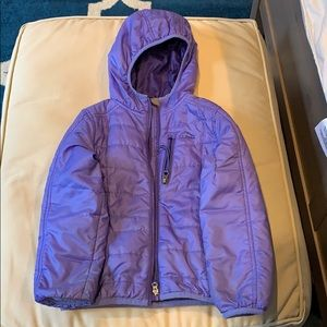 L.L. Bean purple quilted winter coat